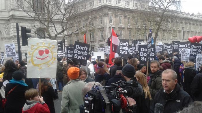 Don't Bomb Syria Rally Whitehall November 2015