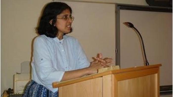 Ekklesia Associate Savitri Hensman, author of Sexuality, struggle & saintliness:same sex love and the church